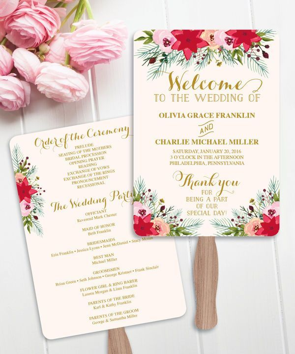 Wedding Program Fan Template Printable Rustic Editable By You In Word Calligraphy Style Print On Kraft Fans Programs