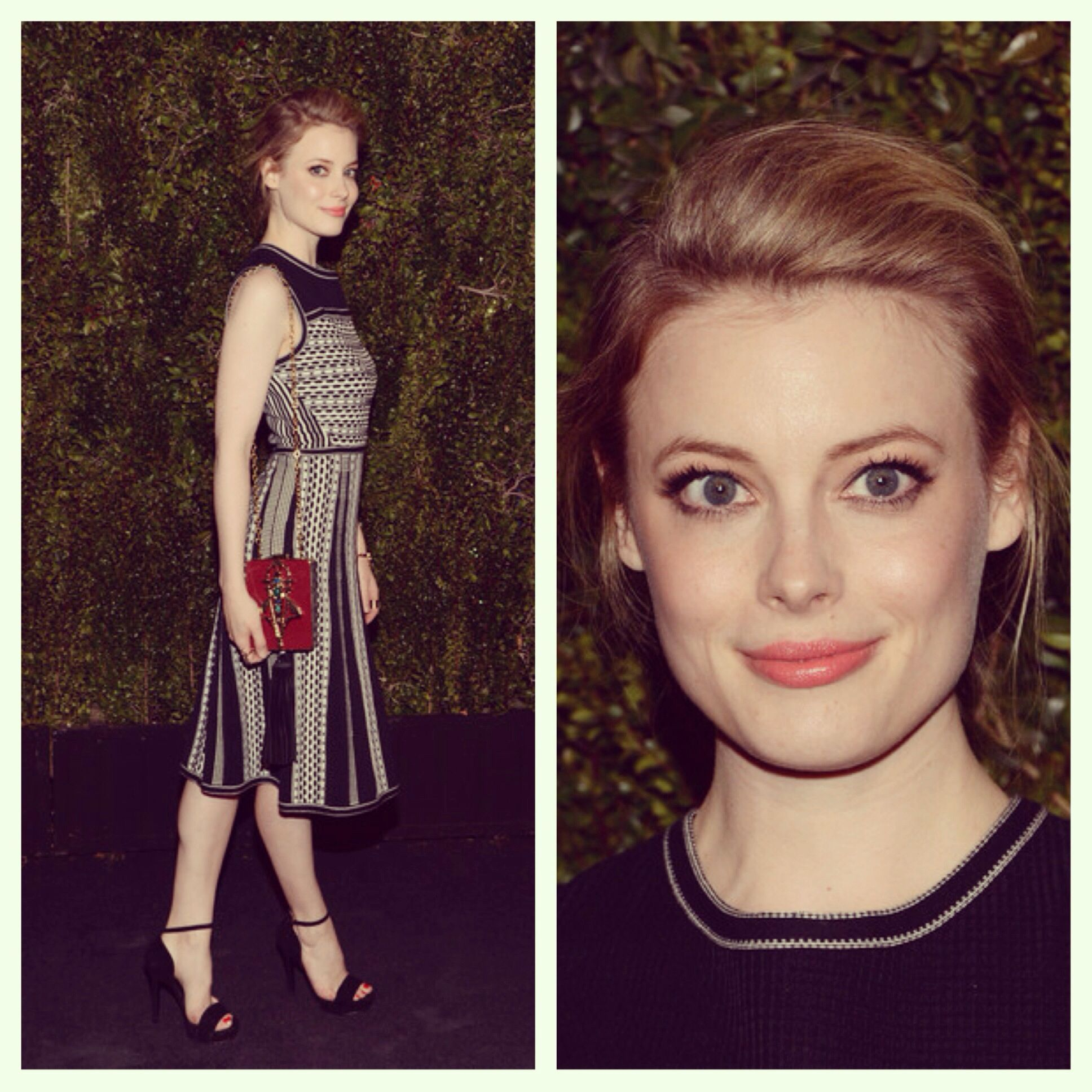 Gillian Jacobs at Tory Burch and Chanel dinner
