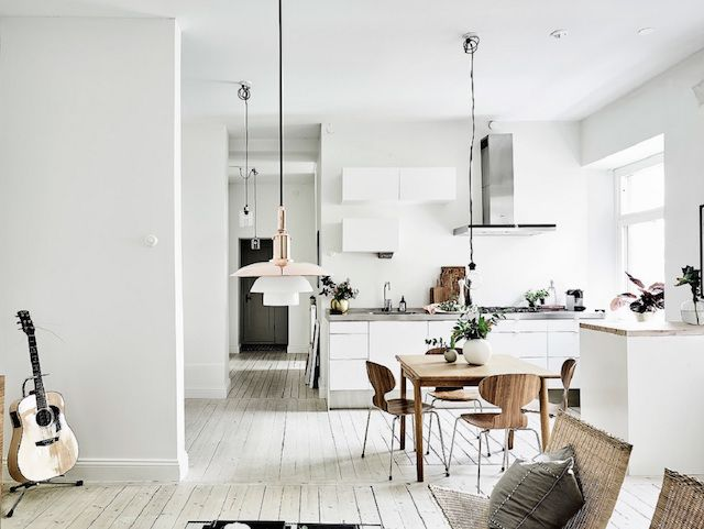 a calm swedish space in neutrals and a beautiful wood floor rh pinterest com