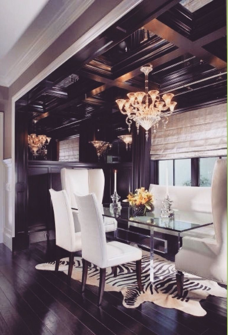 rich looking dining room ideas for the home black white dining rh pinterest com