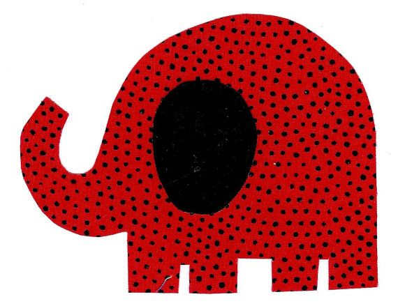 Elephant iron on fabric applique DIY by patternoldies on Etsy, $2.50