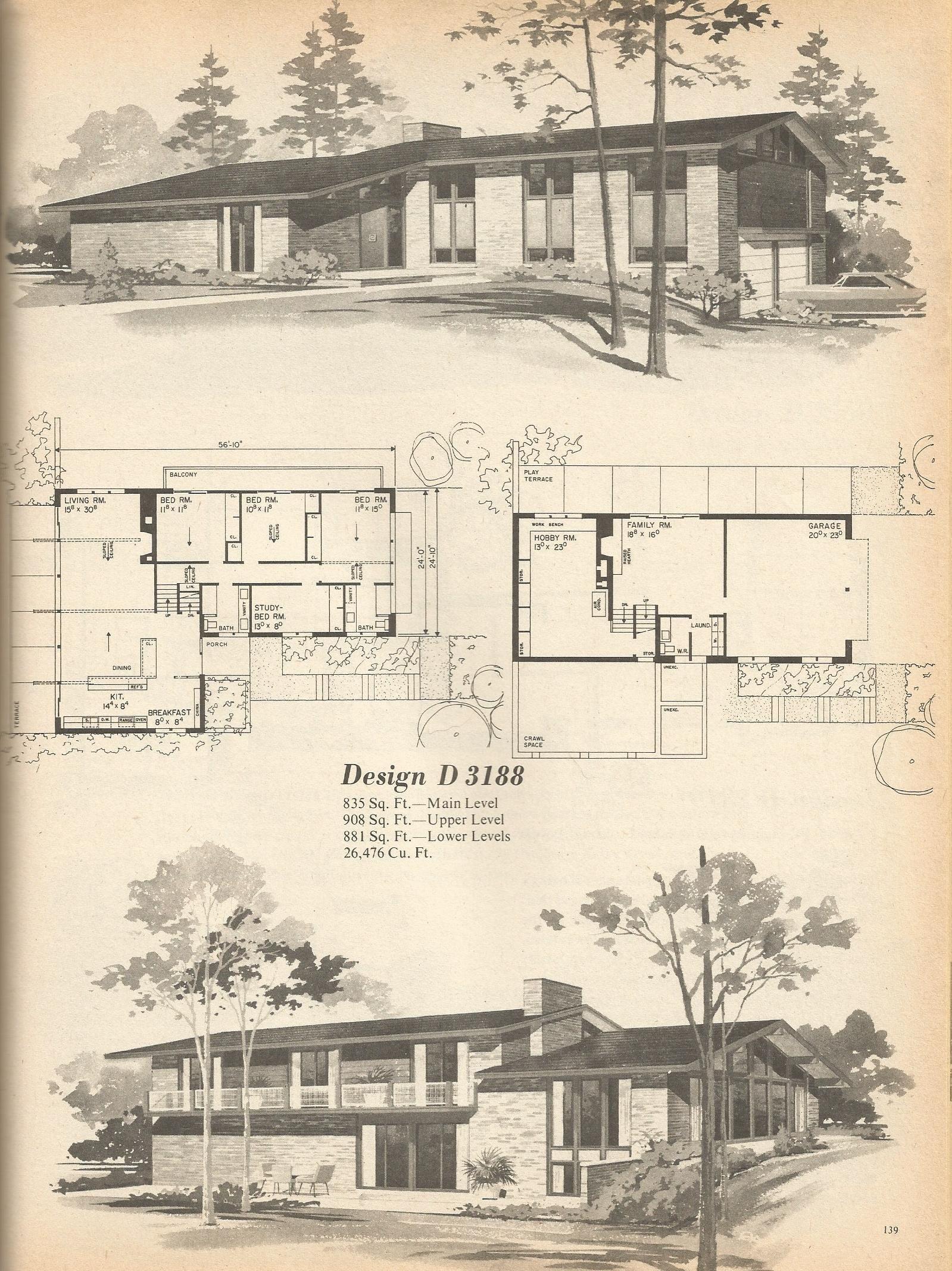 Vintage House Plans 3188 Antique Alter