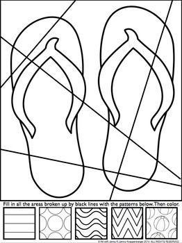 Free Flip Flop Coloring Pages Great End Of The Year Activity Art Worksheets Art Handouts Pop Art