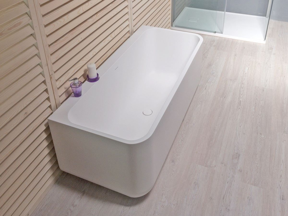 Baignoire rectangulaire en AquaStone® SINCERA™ by Aquatica Plumbing Group