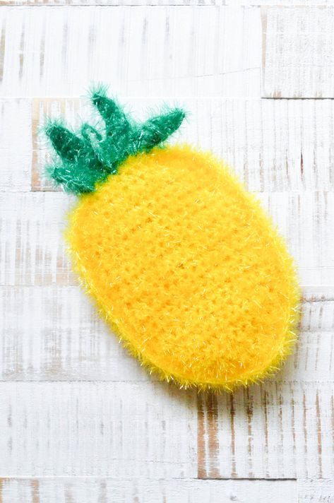 Ananas-Schwamm | bobble wolle | Knitting patterns, Crochet ...
