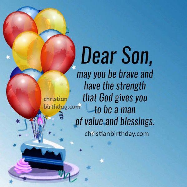 Birthday Card For My Son