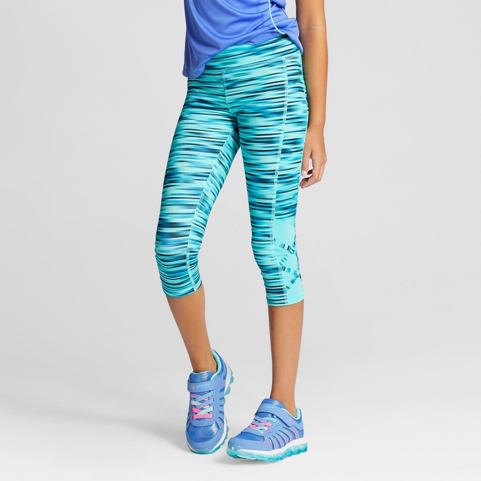2b9a7012a777e The Girls' Fashion Performance Yoga Capri from C9 Champion® keeps you  focused with stretch fabric that moves with you and wicks to help keep you  cool.