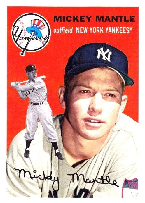 1954 Lost Card Mickey Mantle Baseball Card Values Old Baseball Cards