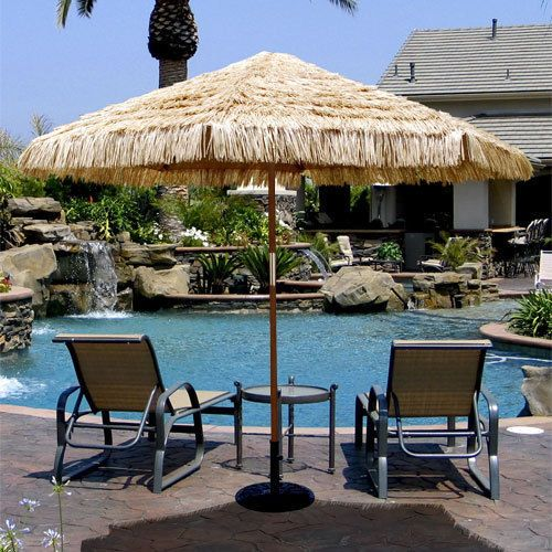 Outdoor Bali Thatched Beach Umbrella Brand New Patio Parasol Hawaiian Sun  Shade In Home U0026 Garden