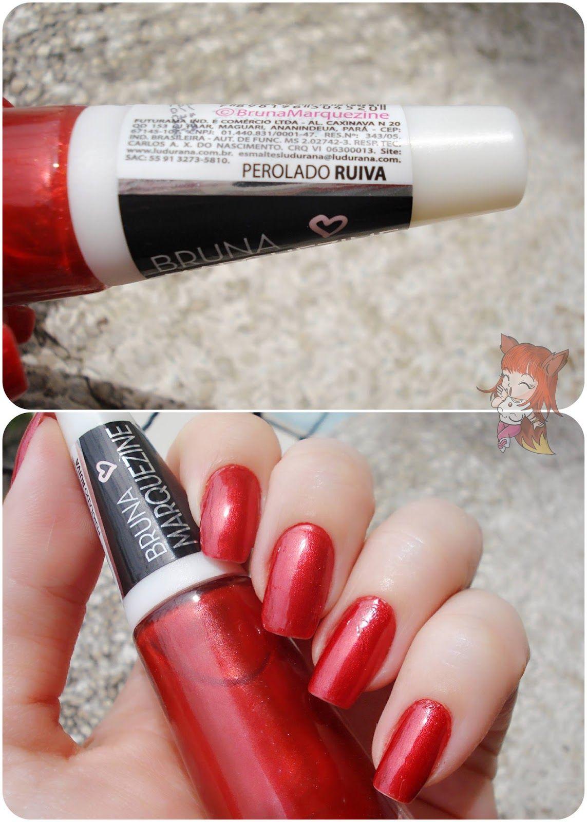 Esmalte Ludurana Vermelho Metálico :: Ruiva  http://www.ruivacohen.com.br/2015/12/esmalte-ludurana-vermelho-metalico-ruiva.html