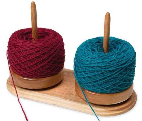 Dual Yarn Susan Yarn Holder #diyyarnholder