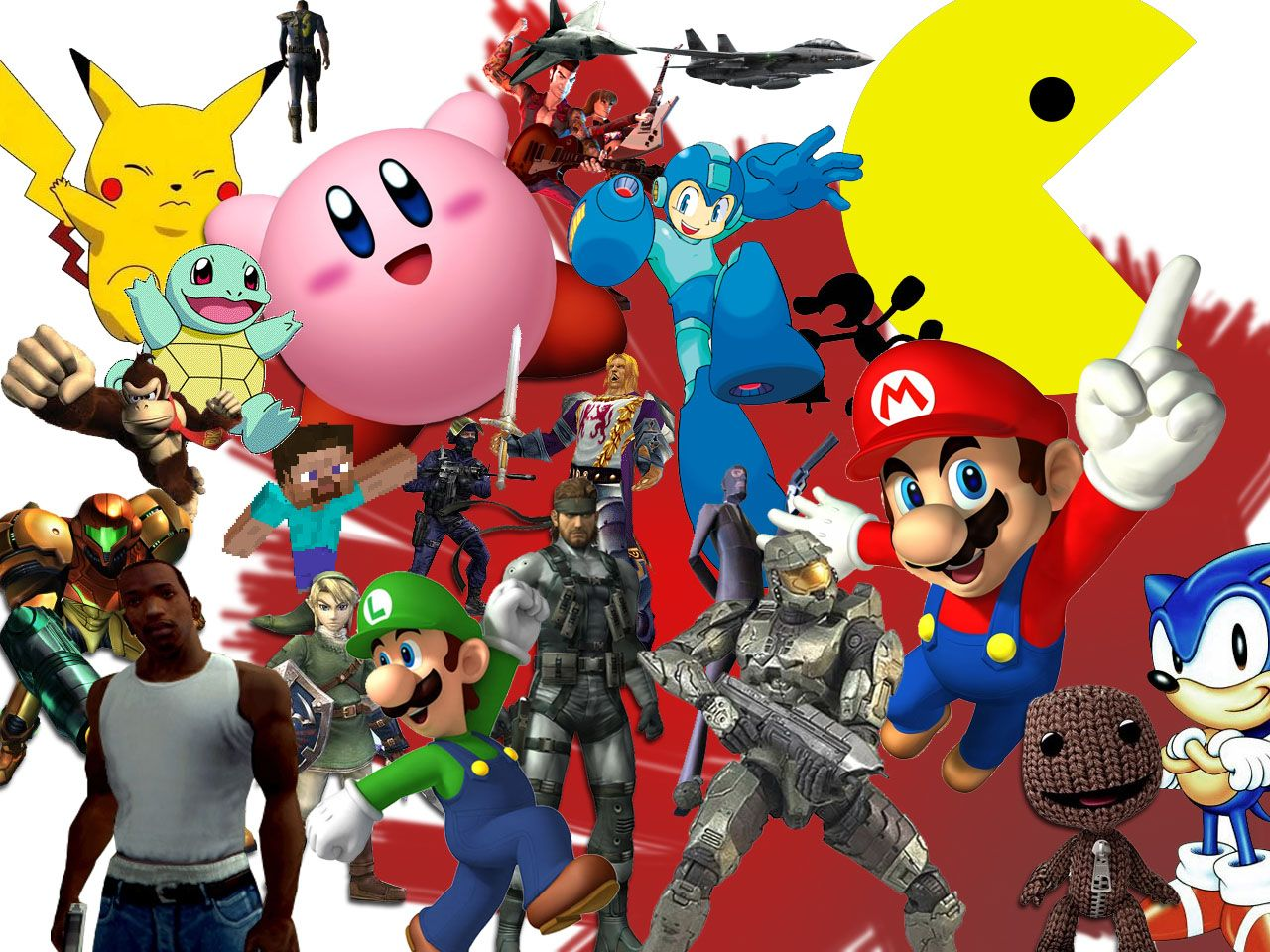 Video Game Collage Wallpaper Widescreen 2 HD Wallpapers