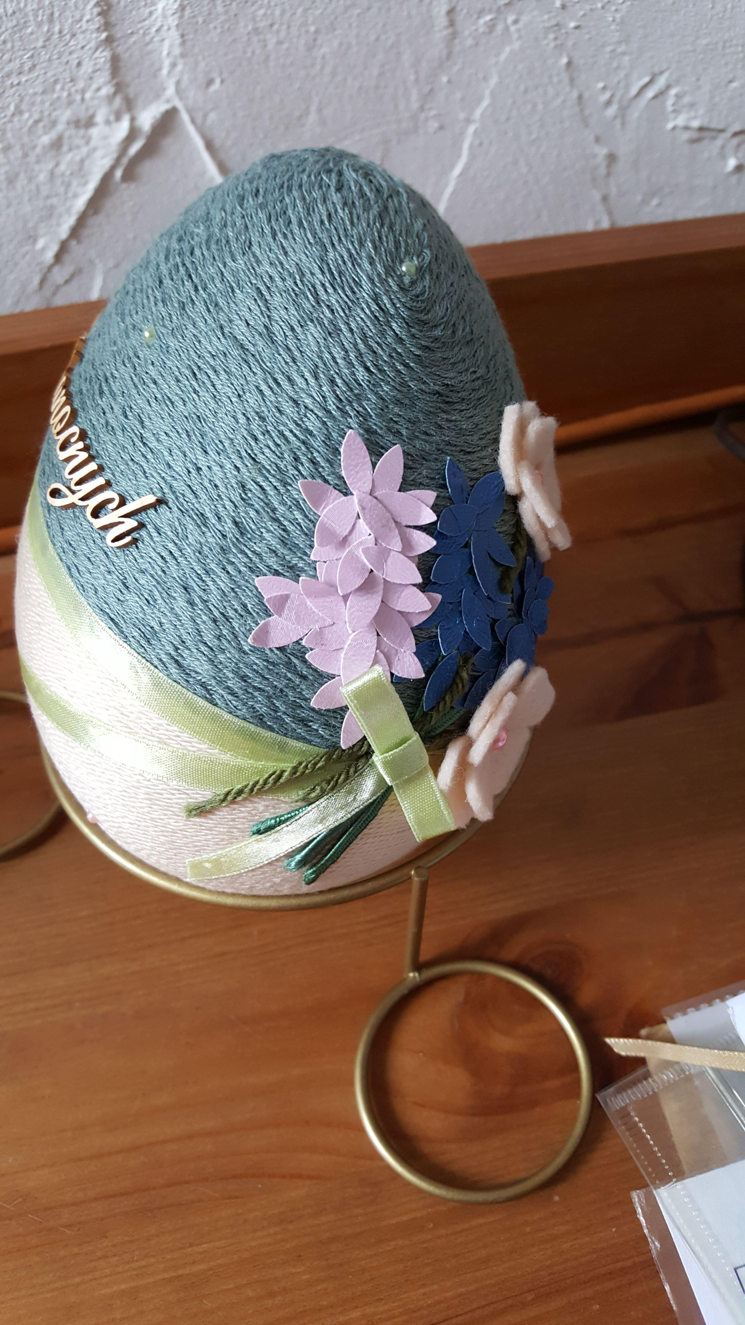 Wielkanocne Dekoracje Styropianowe Jajo Wloczka Karton Pianka Kreatywna Wstazki I Filc Marzec 2017 Crochet Hats Crochet Hats