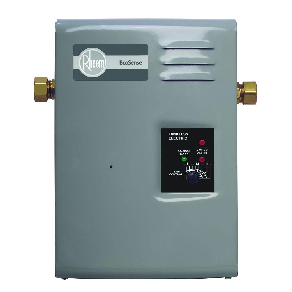 Rheem Ecosense Rete 9 9kw Point Of Use Electric Tankless Water Heater Rete 9 The Home Depot Electric Water