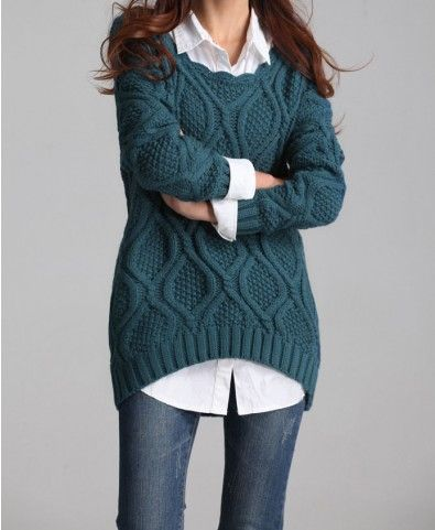 f6a243f4d Oversized Cable Knitted Jumper