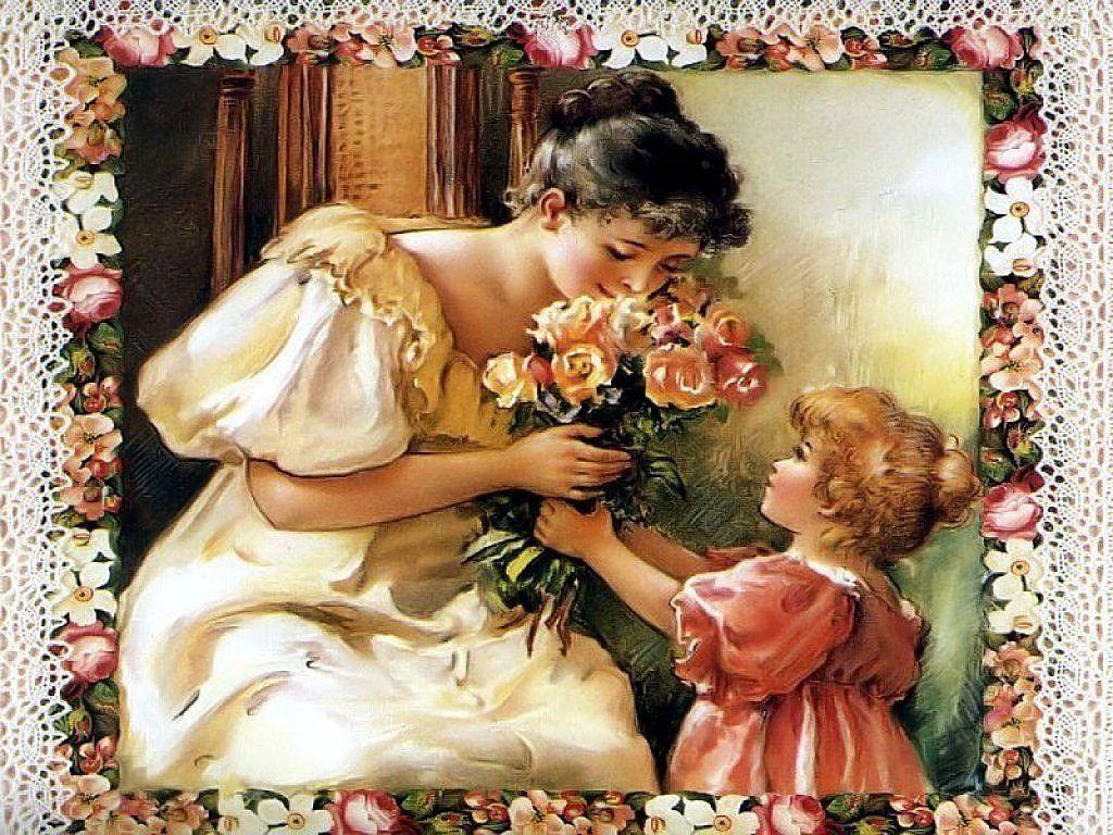 Для ленивых, открытки с днем рождения дочери для мамы ретро