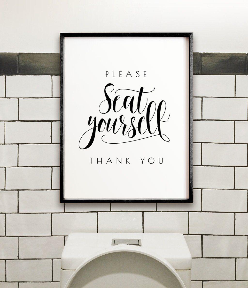 please seat yourself bathroom printable art in 2019 water closet rh pinterest com