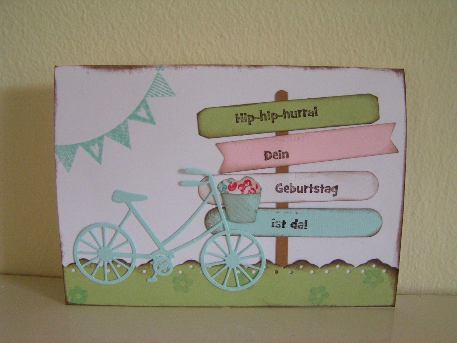 Geburtstagskarte Mit Fahrrad Von Memorybox Geburtstagskarte