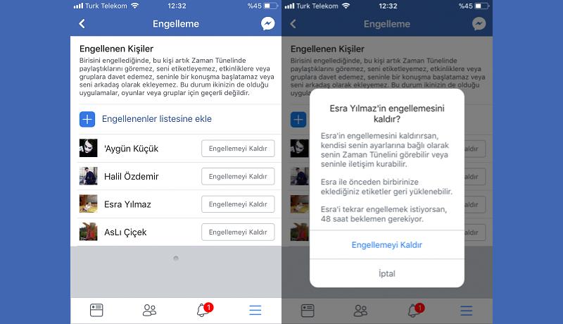 Facebook Engel Kaldirma Ve Engellenenler Listesini Goruntuleme Teloji Facebook Sosyal Aglar Blog