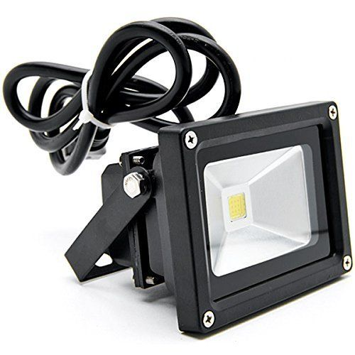 Led Flood Lights Warm White With Us Plug Security Outdoor Lighting