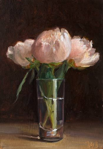 Daily painting titled  Peonies Julian Merrow-Smith