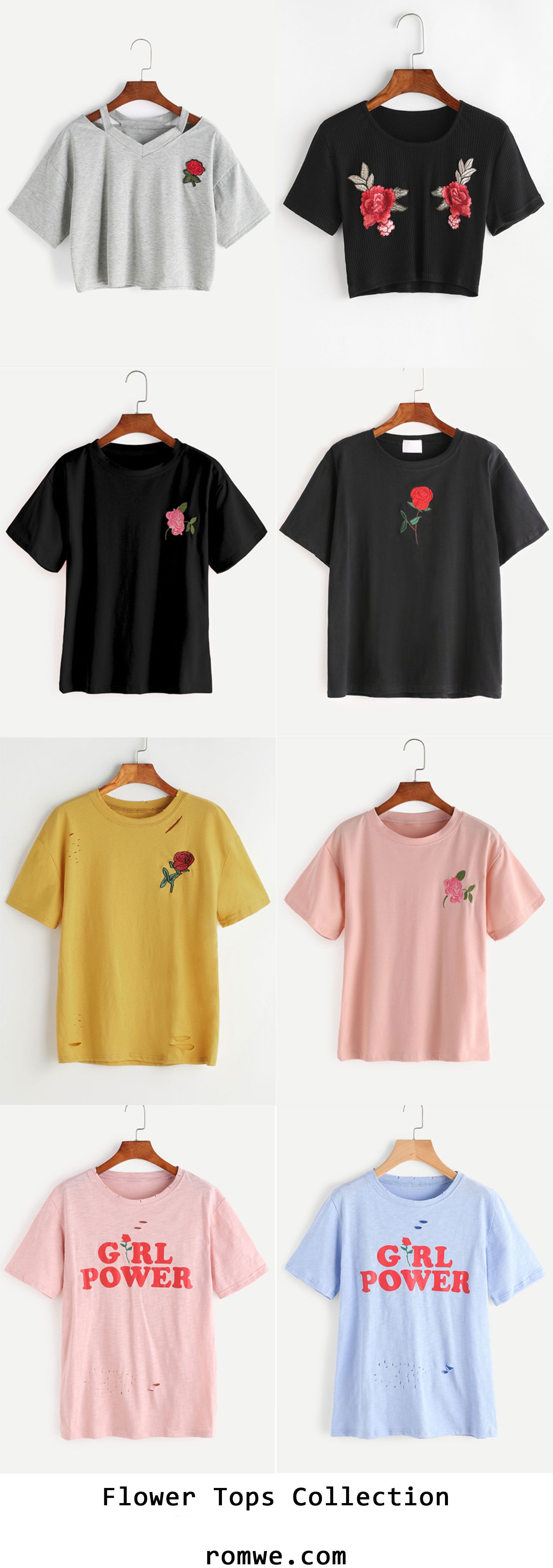 Flower Tops Collection 2017 - romwe.com