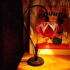 "Lampe de bureau ""fritillaire"" courge/calebasse"