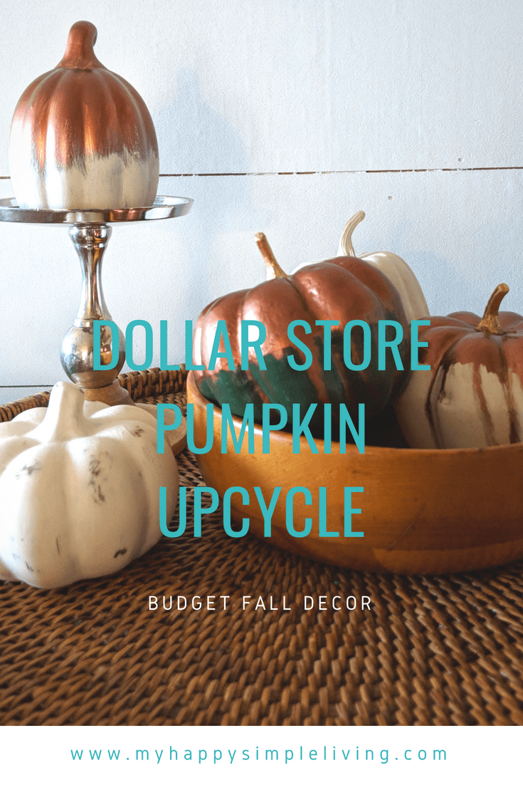 Fall pumpkin decor ideas Hand painted Dollar
