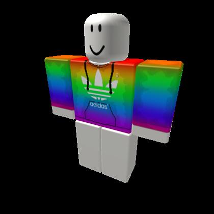 Rainbow Adidas Hoodie - ROBLOX
