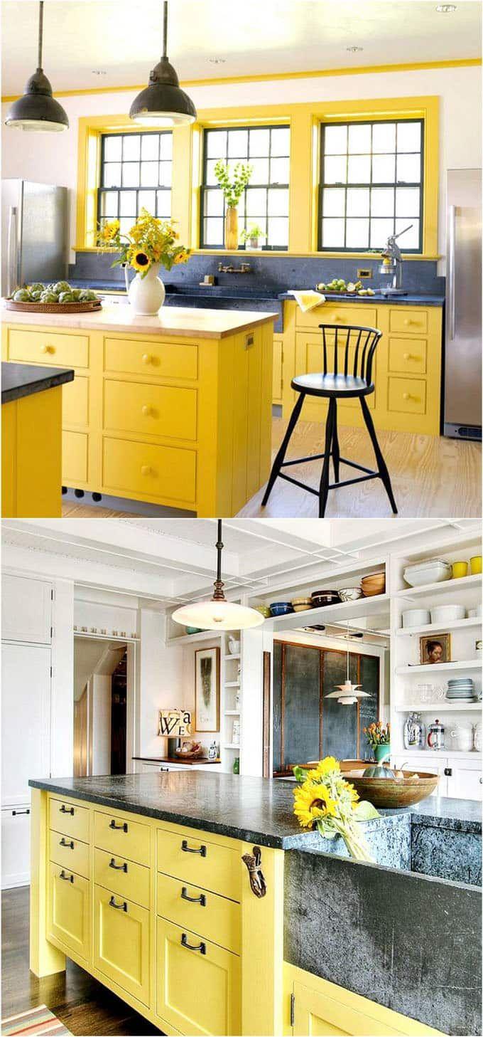 25 gorgeous kitchen cabinet colors paint color combos kitchens rh pinterest com