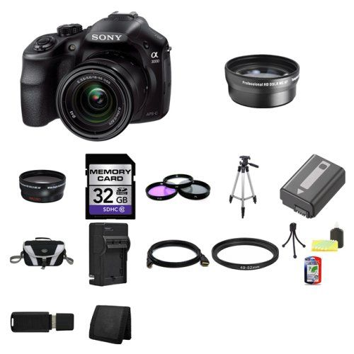 Special Offers Sony A3000 Ilce 3000k Ilce 3000kb 20 1mp Interchangeable Lens Camera With 18 55mm Zoom Lens Black 32gb Package 4 In Stock F Pinterest