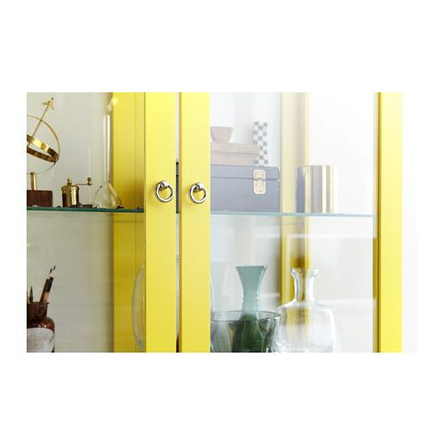 Stockholm Glass Door Cabinet Yellow Ikea Livin Pinterest