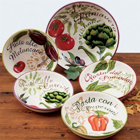 Primavera Pasta Bowl Set Jennifer Brinley Pasta Bowls Ceramics