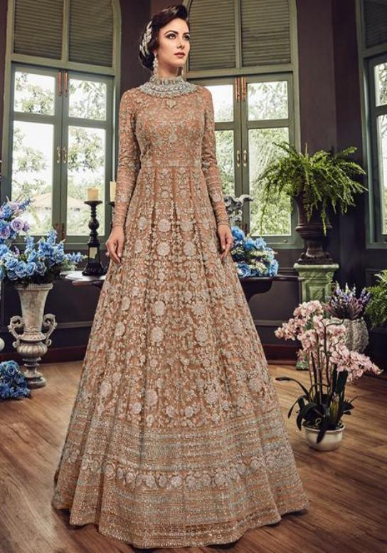 Details about  /Indian pakistani wedding gowns women salwar kameez suits designer dress party