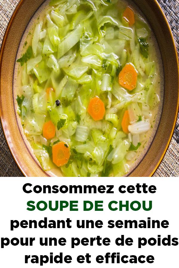recette soupe aux choux minceur express