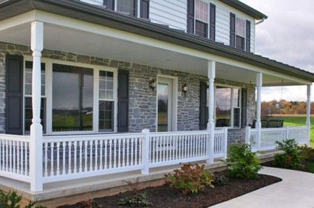 Small Front Patch Landscaping Ideas Front Porch Railing Design