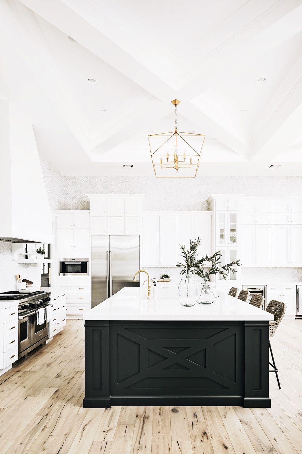 Building kitchen island  love how open and bright this is and still feels grounded with the