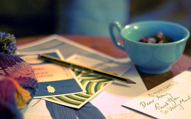 Writing ThankYou Notes With Coffee  Etc    Note