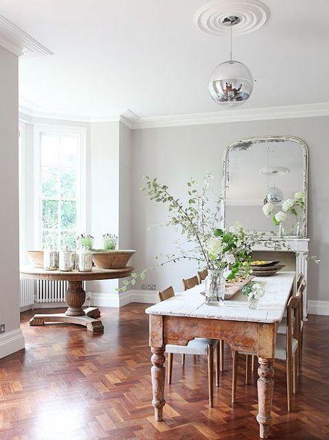 walnut wood floors gray walls color pinterest dining room rh pinterest com