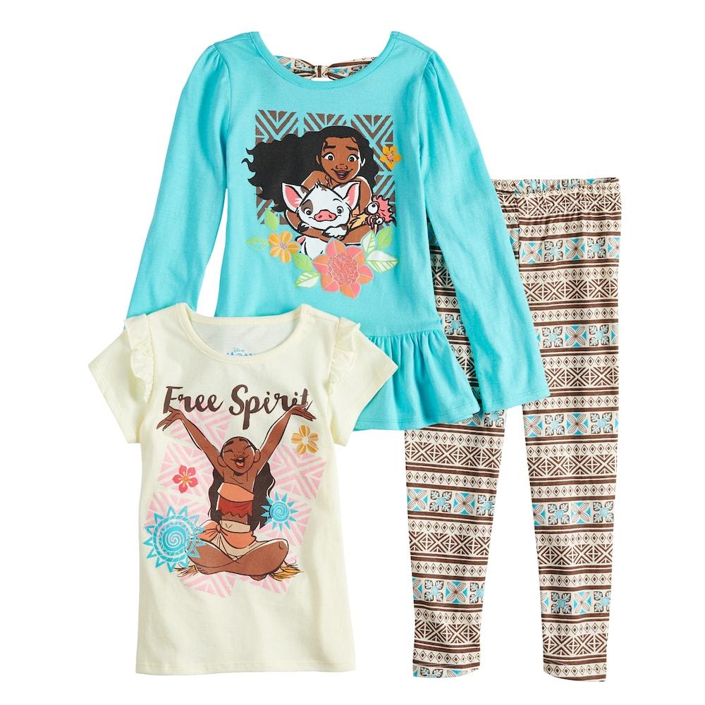 Disney Girls Moana 2 Piece Fleece Set