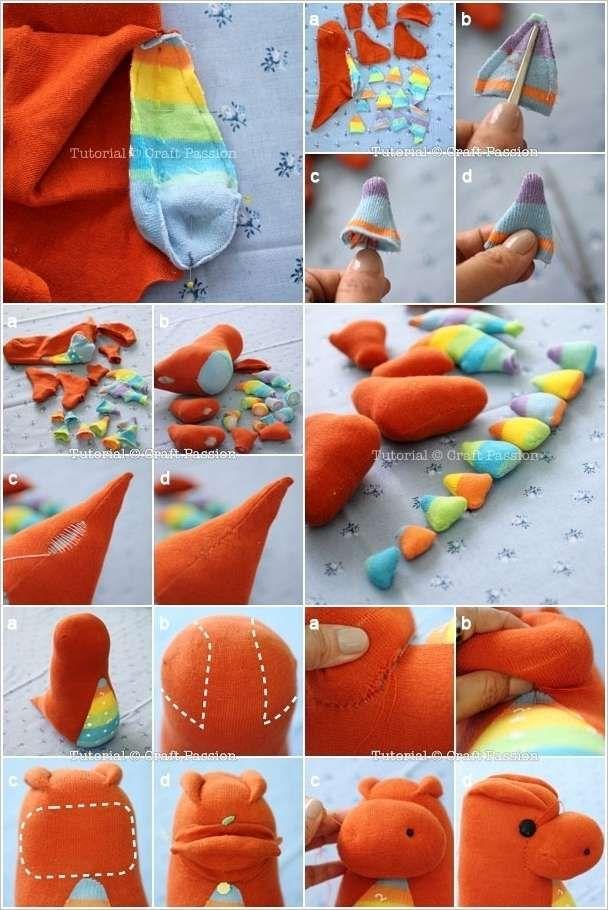 HOmemade Sock Dragon | She\'s Craftty | Pinterest | Drache ...