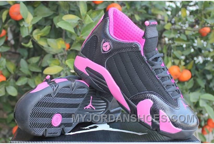 quality design 3ad61 70a70 Order Jordan 14 GS Black Desert Pink For Women Size 5.5 To 8 ...