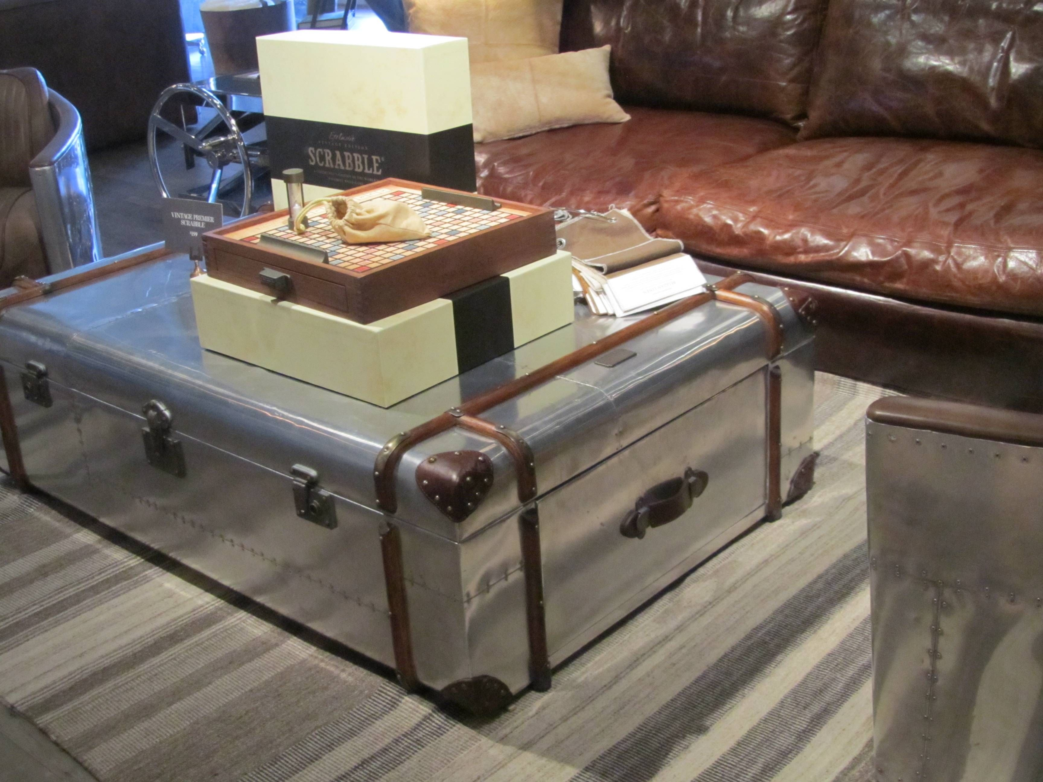 Silver Trunk Coffee Tables In 2021 Coffee Table Trunk Homemade Coffee Tables Coffee Table Design Modern [ 2592 x 3456 Pixel ]