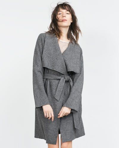 d8d0c466 Wool Robe Coat | Zara | $149 Zara consistently has the BEST fall/winter  coats at totally reasonable prices.