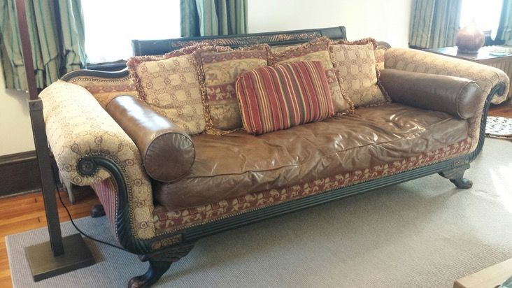 Old Hickory Tannery Duncan Phyfe Style Couch U2014