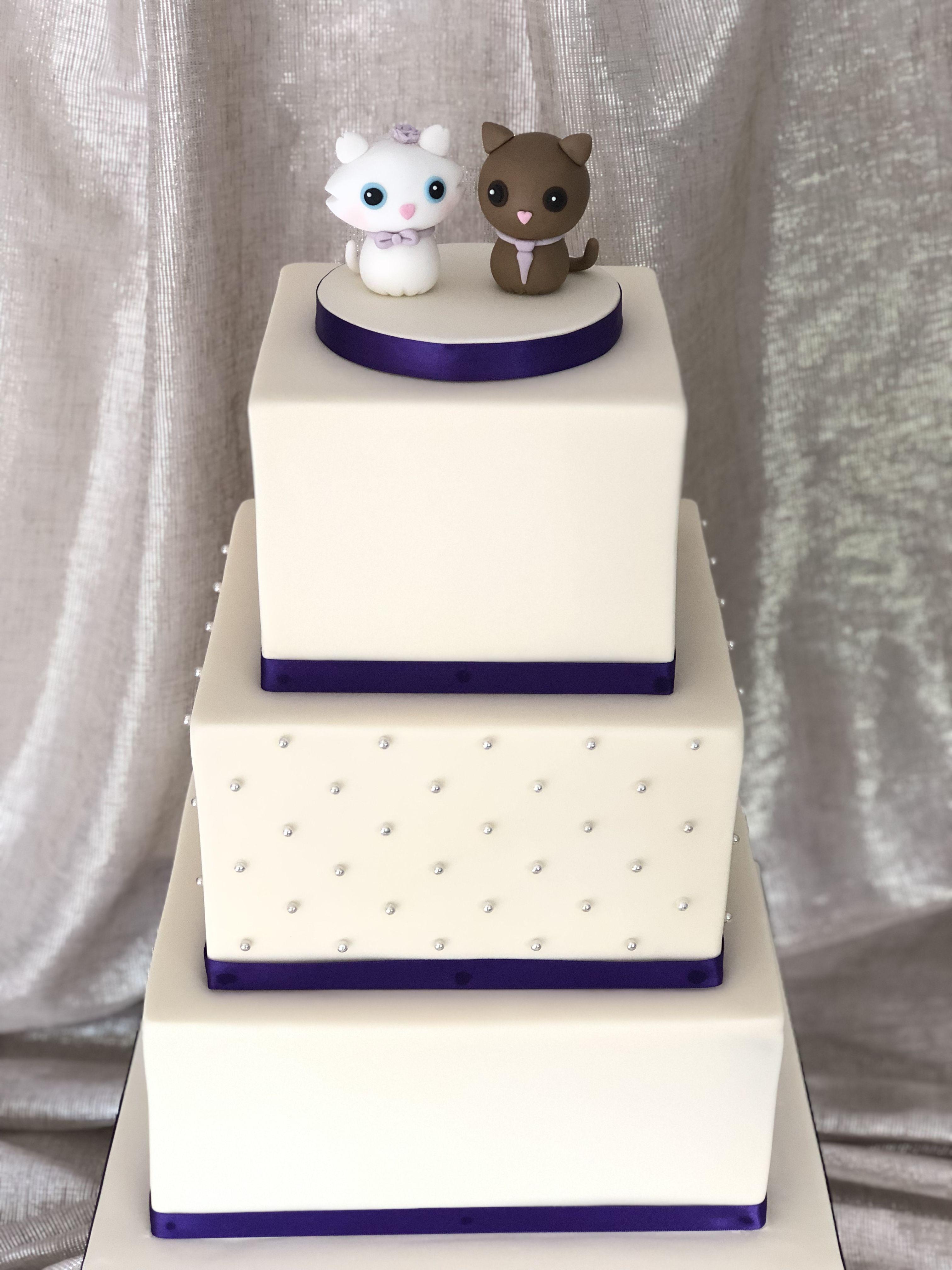 Lianne 3 tier square wedding cake in 2020 Square