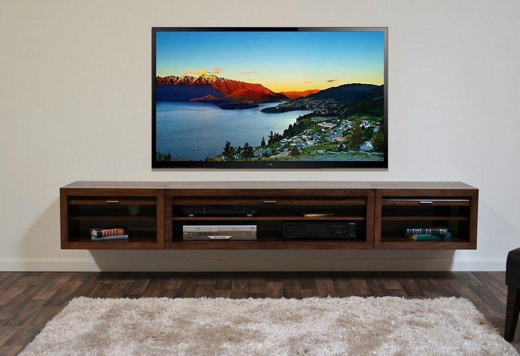 Resemblance Of Floating Media Center Stylish And E Saving Furniture