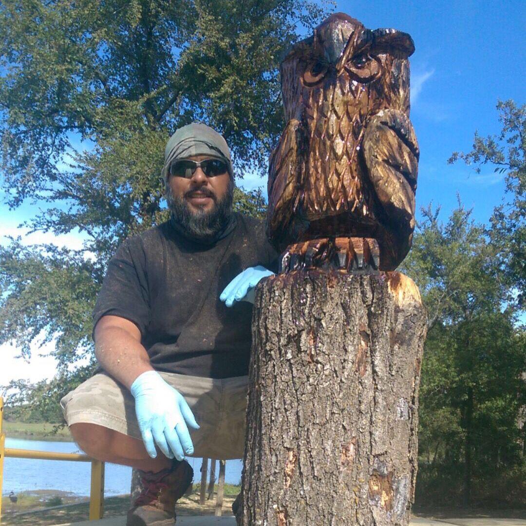 East texas carvings chainsaw artist rob banda
