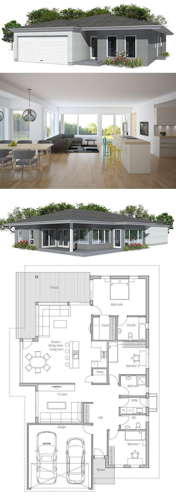 House Plan OZ74 House Plan from ConceptHomecom