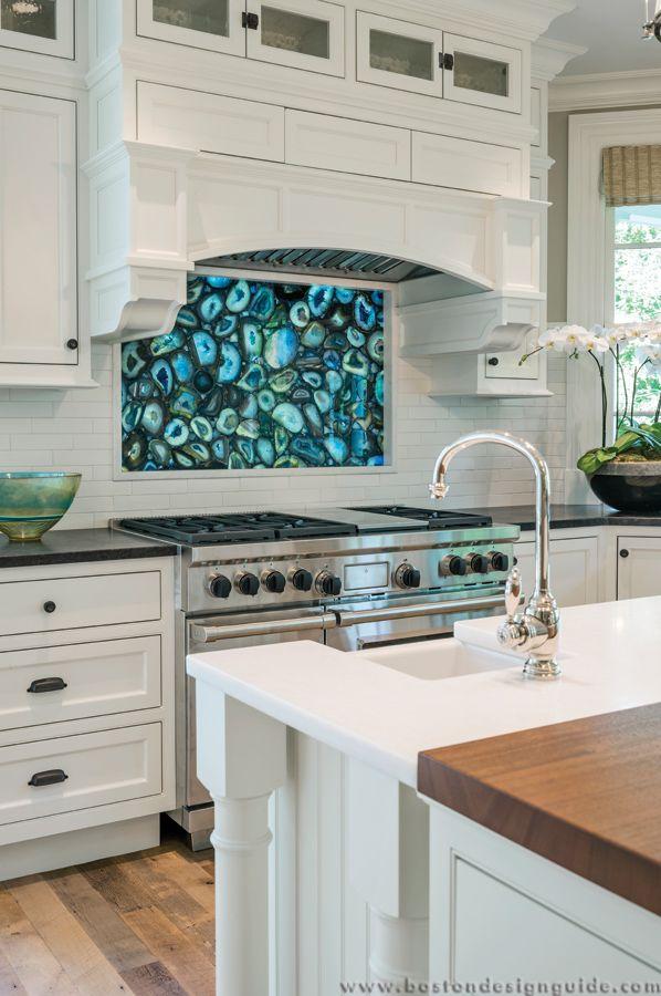 A stunning semi precious blue agate backsplash packs